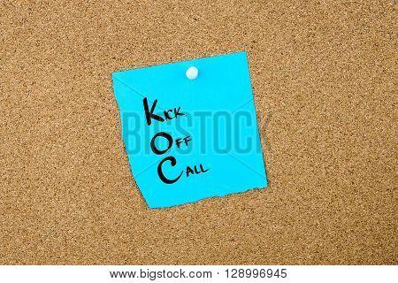Business Acronym Koc Kick Off Call