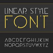 Vector linear font - simple and minimalistic alphabet in line style. poster