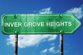 inver grove heights road sign , worn and damaged look poster