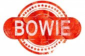 bowie, vintage old stamp with rough lines and edges poster
