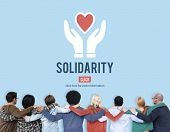 Solidarity TEam Spirit Unity Icon Concept poster