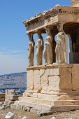 Caryatids at Porch of the Erechtheion, Acropolis poster