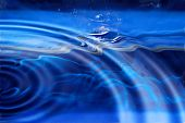water ripples with a blue background (water reflection) poster