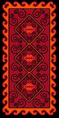 Asian ornaments collection. Historically ornamental of nomadic people. It based on real-Kazakh carpets of felt and wool. Mirror-symmetric illustrations. Region Of Shymkent poster