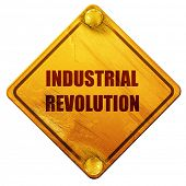 Industrial revolution background, 3D rendering, isolated grunge  poster