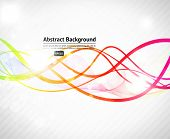 Vector illustration of soft colored abstract background poster
