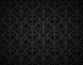 Padrão de papel de parede sem costura, preto