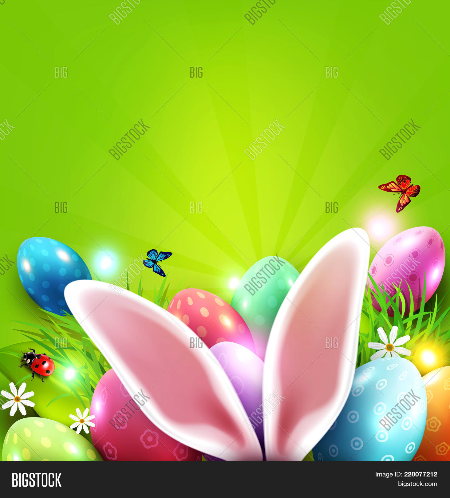 Easter Greeting Card Image Photo Free Trial Bigstock