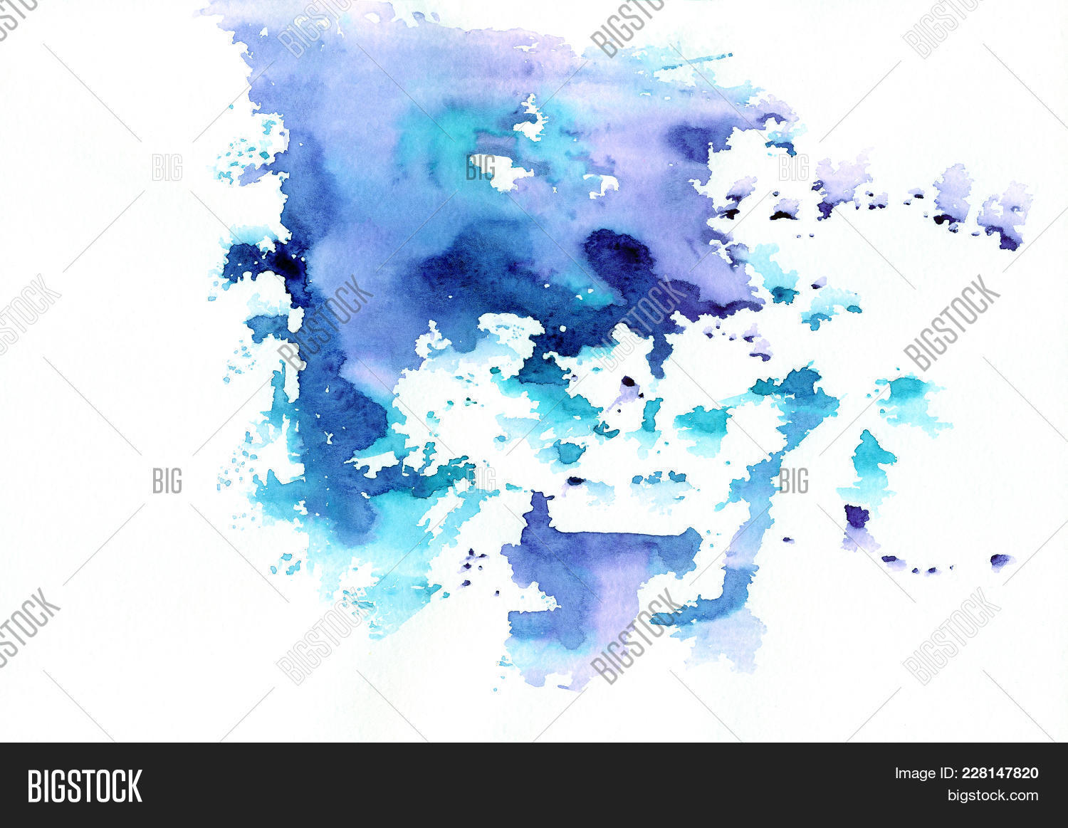 blue abstract watercolor powerpoint template blue abstract