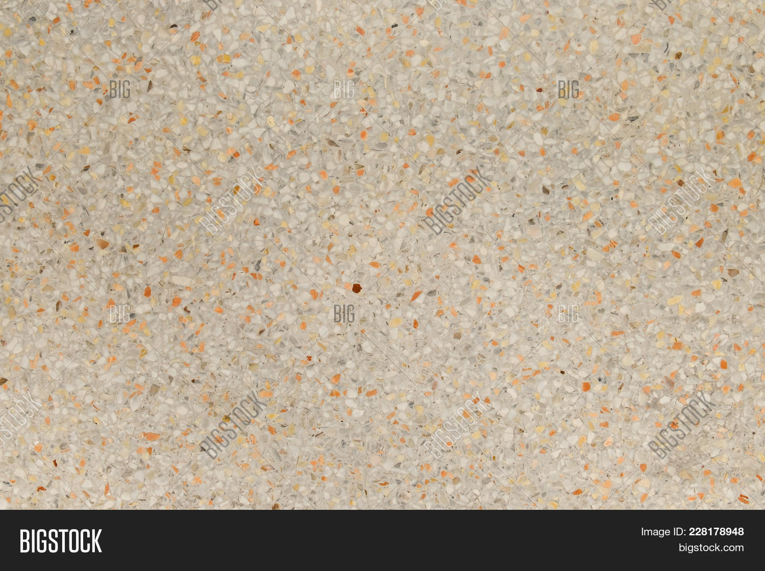 Yellow And Cream Terrazzo Floor Old Texture Or Polished Stone Marble For Background
