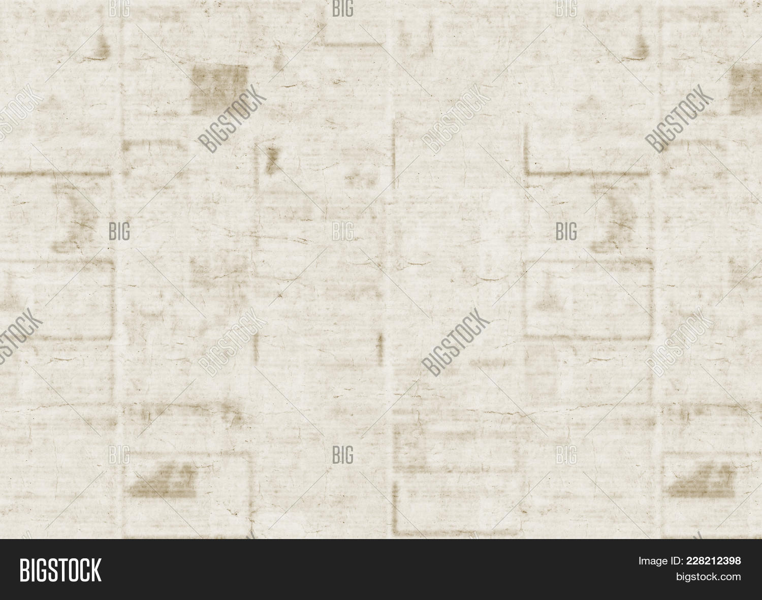 Old Newspaper Texture Background Blurred Vintage A Blur Unreadable Newspa