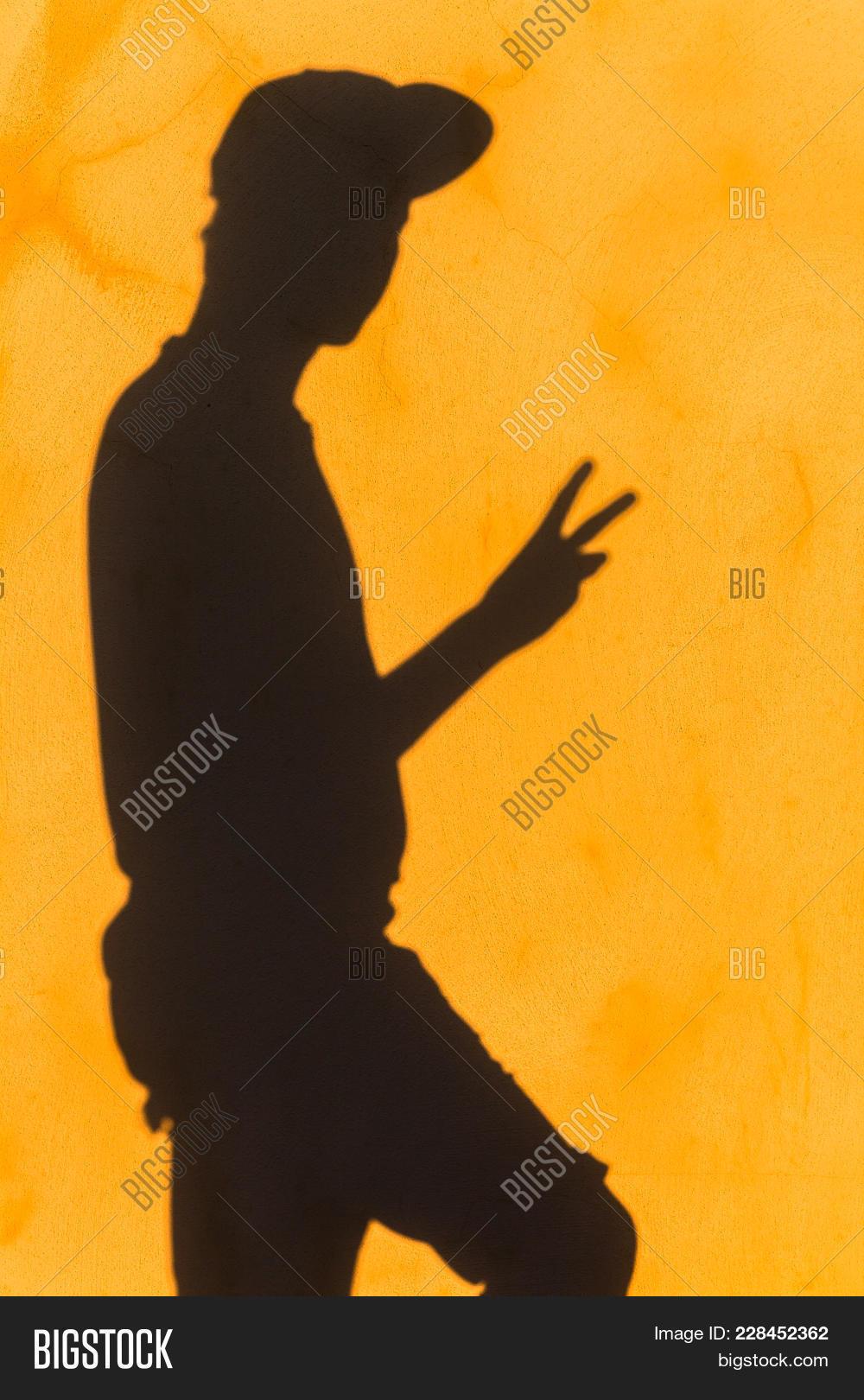 Teenager Shadow Wall Image & Photo (Free Trial) | Bigstock