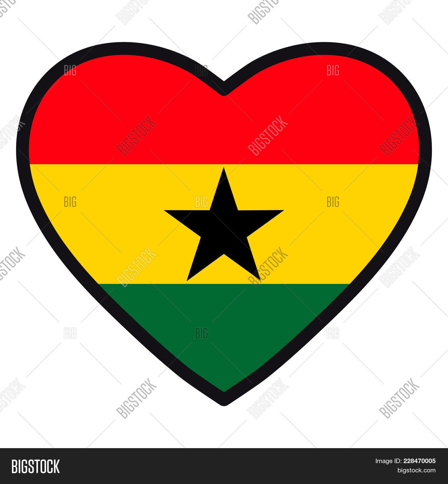 Flag Ghana Shape Heart Image & Photo (Free Trial)   Bigstock