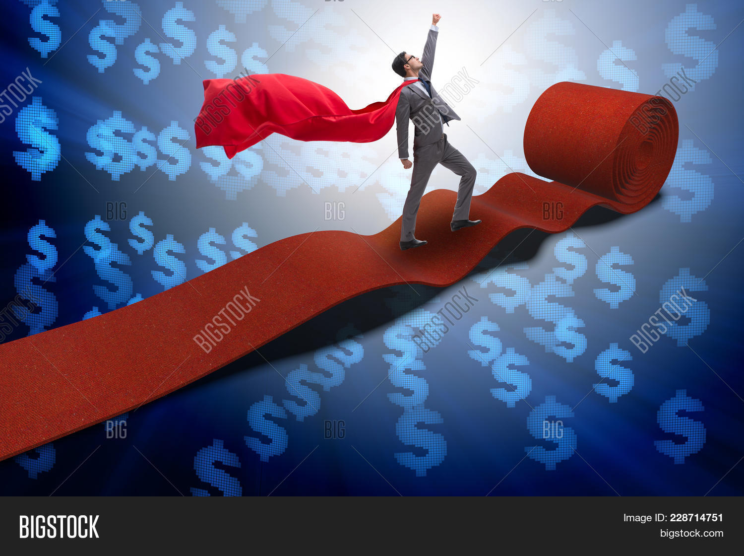superhero on the red powerpoint template superhero on the red