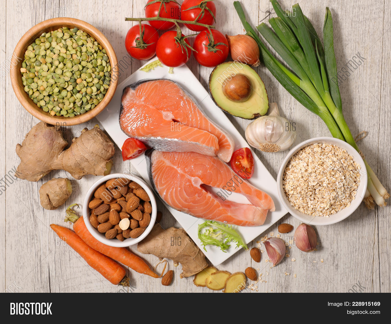 Selection Of Health Food Powerpoint Template Selection Of Health