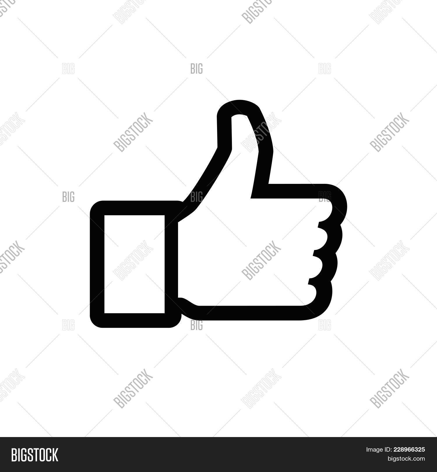 Like Icon Isolated On Vector Photo Free Trial Bigstock