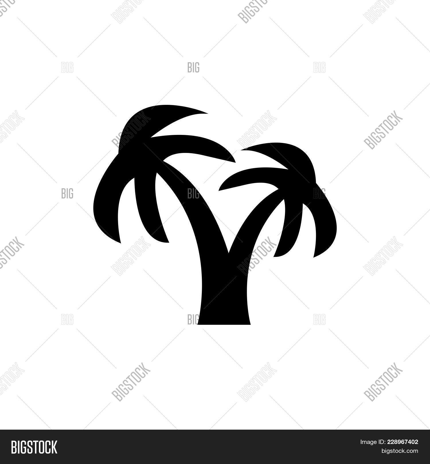 Coconut Tree Icon Vector Photo Free Trial Bigstock