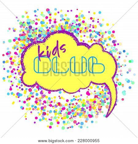 Kids Zone Vector Cartoon Banner. Vector Flat Illustration