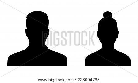 Business Avatars. Man And Woman Profile Icons. Stock Vector