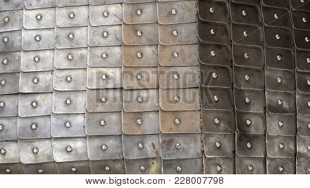 Background Consisting Of Plates Of Armor Of The Medieval Knight.