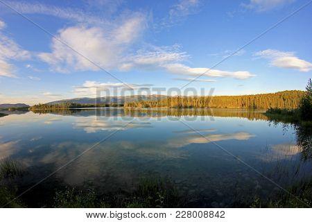 Beautiful Blue Boya Lake Along Cassiar Highway, Provincial Park, British Columbia, Canada