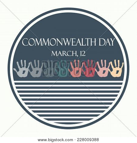 Creative Vector Abstract For Commonwealth Day. Flat Vector Stock Illustration