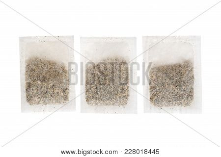 Tea In Paper Bag. Isolated On White Background. Herbal Teabag