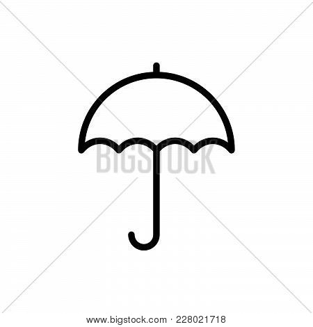 Umbrella Icon Isolated On White Background. Umbrella Icon Modern Symbol For Graphic And Web Design.