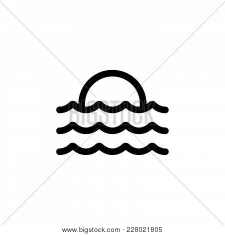 Wave Icon Isolated On White Background. Wave Icon Modern Symbol For Graphic And Web Design. Wave Ico