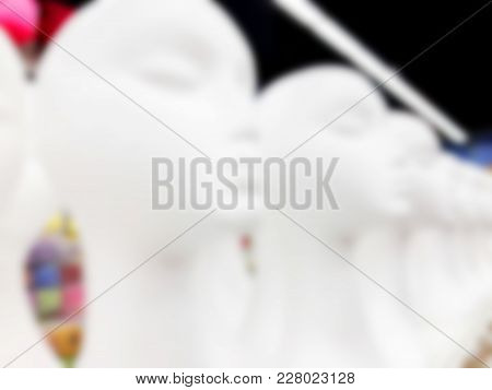Blurred Abstract Store Of Shopping Mall As Background. Bokeh