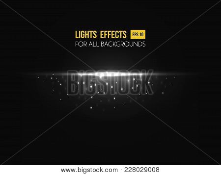 Light Effect Made By Sunset For Background. Sunshine Or Sun Beams Or Rays Light Effect Going Through