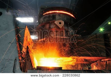 Heavy Industry Metallurgical Plant Produces Steel Making