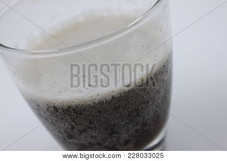 Glass Of Root Beer Isolated On A White Background, Closeup
