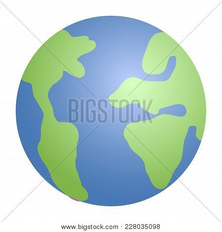 Isolated Earth Planet Icon. Vector Illustration Design