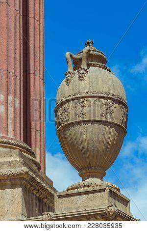 San Francisco, Usa - April 2017: Amphora Close-up At Exploratorium And Palace Of Fine Art In San Fra