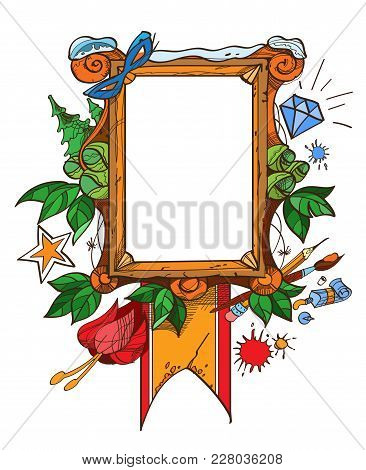 Easel With A Blank Canvas, Tattoo Style