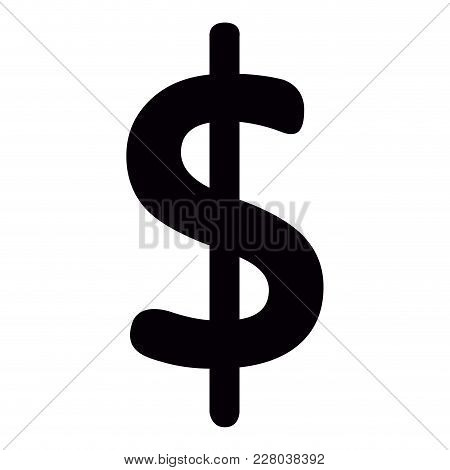 Isolated Black Money Symbol. Vector Illustration Design
