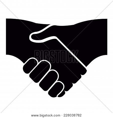Isolated Handshake Icon Image. Vector Illustration Design