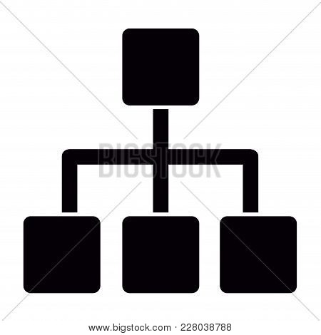 Isolated Business Network Icon. Vector Illustration Design
