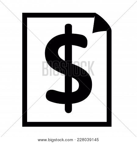 Paper Silhouette With The Money Symbol. Vector Illustration Design