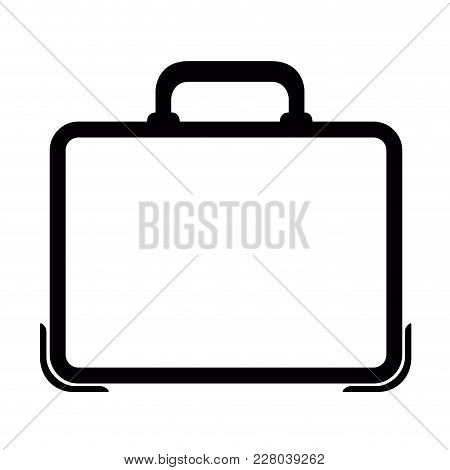 Isolated Business Suitcase Icon. Vector Illustration Design