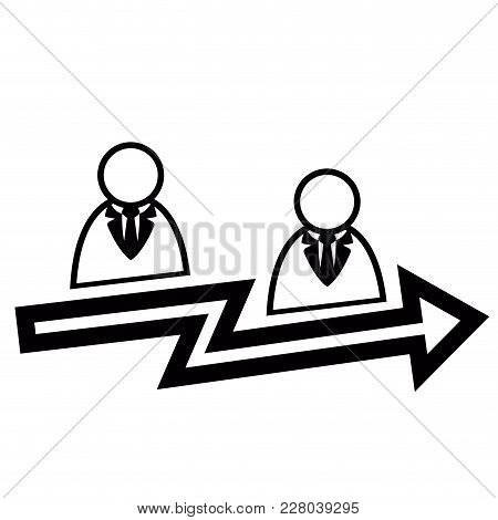 Teamwork Success Concept Icon. Vector Illustration Design