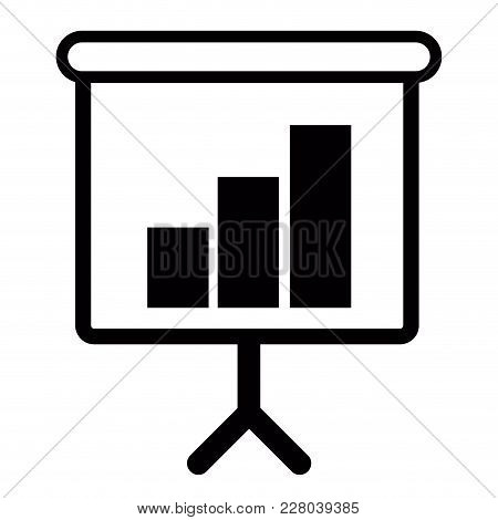 Isolated Business Success Graph. Vector Illustration Design