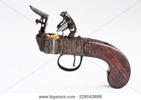 Antique English Flintlock Fire Starter Made Around 1790-1800, Before First  Wood Match Stick Which W