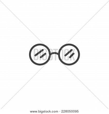 Sunglasses Outline Icon. Linear Style Sign For Mobile Concept And Web Design. Glasses Simple Line Ve
