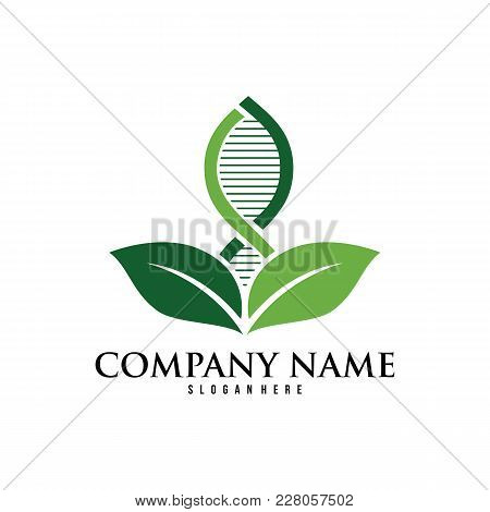 Dna Helix Scientific Laboratory Vector Logo Design