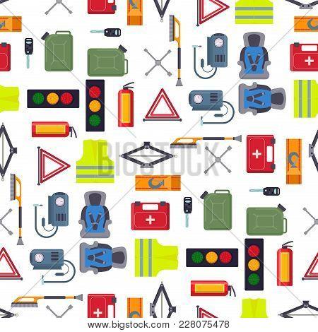 Auto Transport Vector Motorist Equipment Transportation Service Car Driver Tools High Detailed Repai
