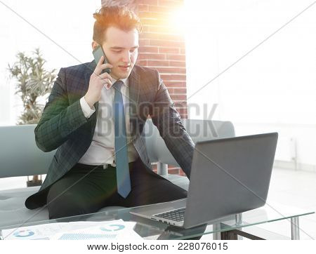 businessman working in creative office