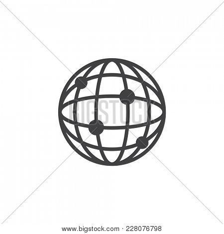 Illustration of global connection icon