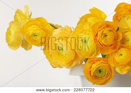 Yellow anemone flower bouquet